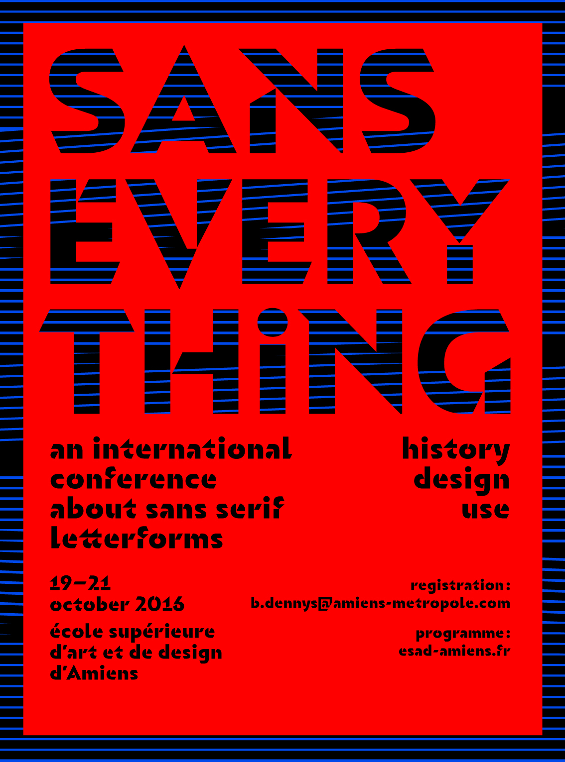 Sans Everything - an international conference about sans serif letterforms